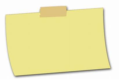 Sticky Note Transparent Notes Clipart Posted Yellow