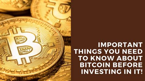 It's not even as stable as the stock market. Important Things You Need to Know About Bitcoin Before Investing in it!