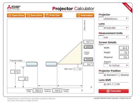 distance ecran videoprojecteur canapé projector calculator un outil pour sélectionner votre