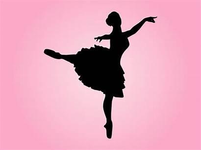 Silhouette Dancing Dancer Ballerina Ballet Vector Clipart