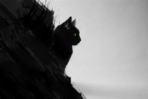 Abstract Black Cat Painting by Black Cat Abstract By Emanuel96 On Deviantart