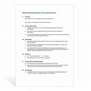 Mietvertrag Wg Zimmer Kostenlos : muster untermietvertrag b ros ~ Lizthompson.info Haus und Dekorationen