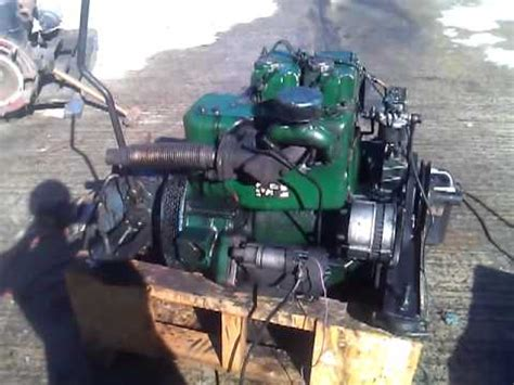 lister st hp twin cylinder marine engine youtube