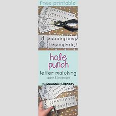 Upper & Lowercase Letter Recognition Matching Hole Punch Activity