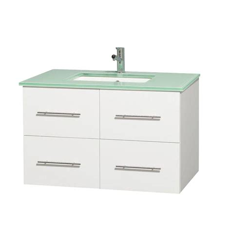 wyndham collection centra   vanity  white