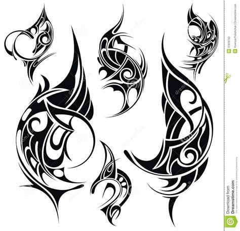tattoo design elements stock vector illustration  illustration