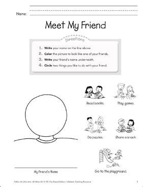 meet  friend    printable lesson plans