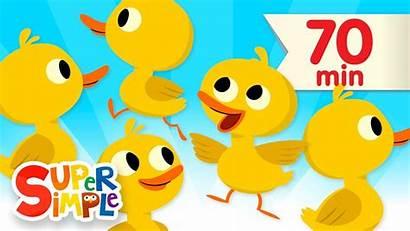 Songs Simple Ducks Five Rhymes Nursery Song