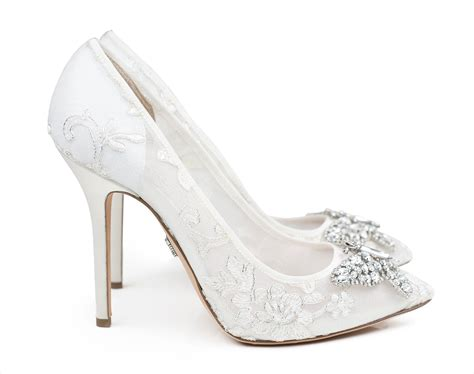 wedding shoes shop white bridal heels   classic