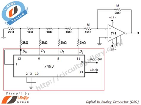Digital Analog Converter Using Ladder Network