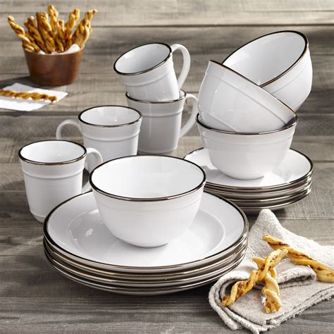 dinnerware better homes gardens piece farma walmart
