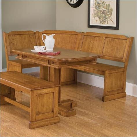 corner nook dining table home styles wood kitchen dining nook corner bench