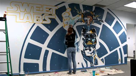 Star Wars Mural Timelapse  Youtube. Bulldozer Logo. Boys Decals. Student Behavior Stickers. Fancy Lettering. Security Training Banners. Metal Murals. Mobile Communication Banners. Boss Banners
