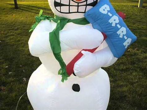 shopchristmasinflatablescom shivering snowman airblown