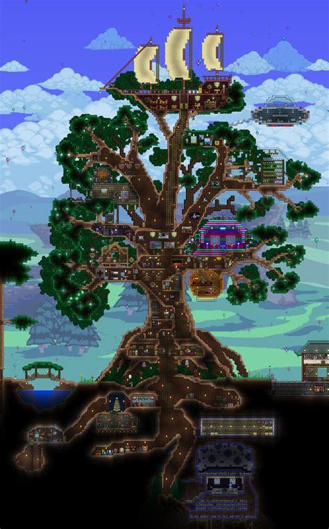giant living treehouse terraria house ideas terrarium minecraft blueprints