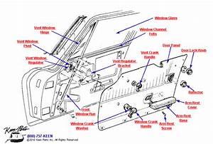 1964 Corvette Coupe Door Parts