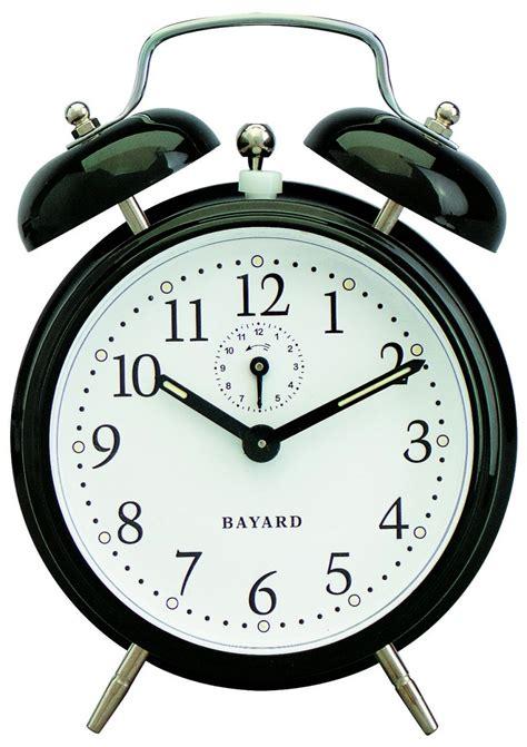 pendule cuisine design réveil mécanique noir bayard réveil 1001 pendules