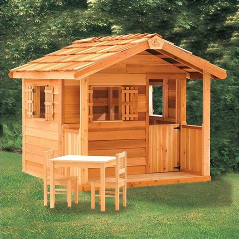 playhouse outdoor toys playhouse  wooden garages kid stuff wooden outdoor playhouse