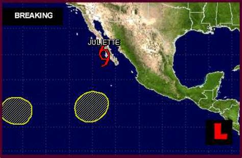 ts juliette projected path updated  national hurricane