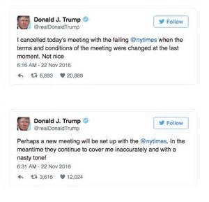 Trump Tweets New York Times
