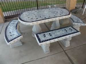 Martha Living Patio Furniture Cushions by Concrete Picnic Tables And Benches Home Ideas