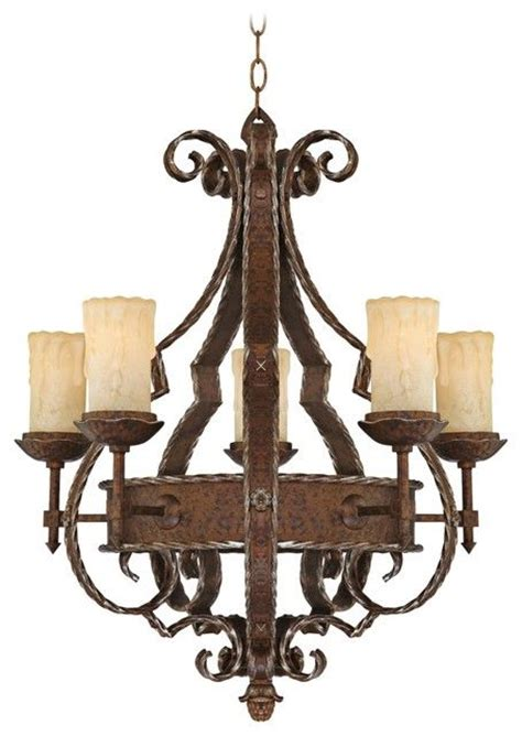 chandelier antique wrought iron rustic tranquility
