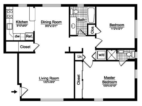 2 bed 2 bath house plans 2 bedroom house plans free two bedroom floor plans