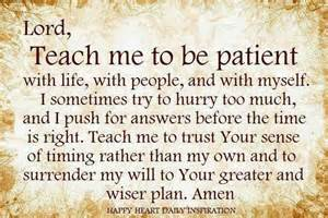 Lord Give Me Patience Prayer