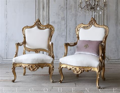 1940s French Style Gilt Armchairs