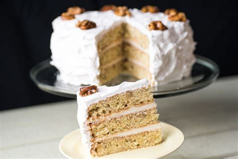 mary berrys frosted walnut layer cake recipe frosting