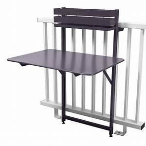 Table De Balcon : table de balcon pliante rabattable en acier hauteur 115cm ~ Teatrodelosmanantiales.com Idées de Décoration