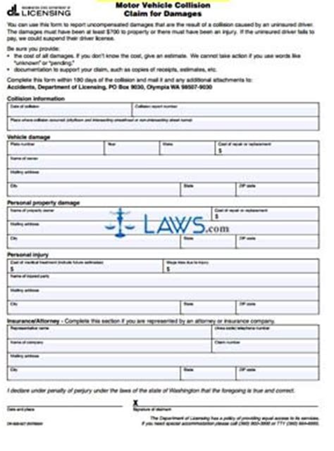 colorado motor vehicle reinstatement form form dr 500 027 motor vehicle collision claim for damages