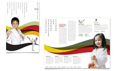 karate martial arts brochure template design