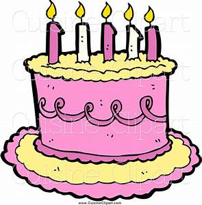 Pink Cake 6th Birthday Clipart - Clipart Suggest