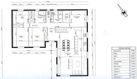 bureau de maison design photo quot plan de maison en l 3 chambres 1 bureau quot plans