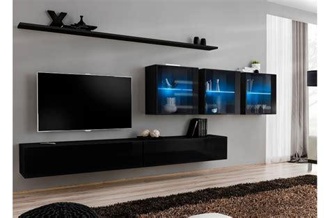 meuble tv mural design 224 led bleu trendymobilier
