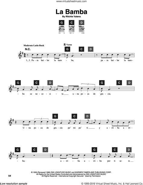 La bamba guitar solo lesson in key
