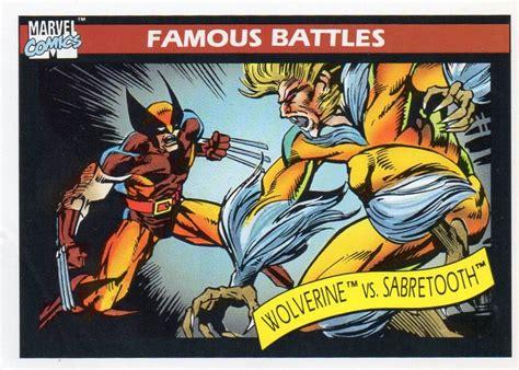 1990 Marvel Comics Trade Card Famous Battles #119