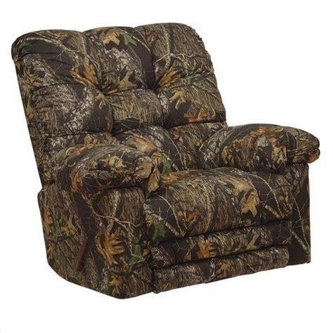 oversized camo recliner catnapper magnum chaise rocker recliner chair in mossy oak 1343
