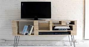 Meuble Tv Original : diy d co pour fabriquer un meuble tv original et pas cher ~ Teatrodelosmanantiales.com Idées de Décoration