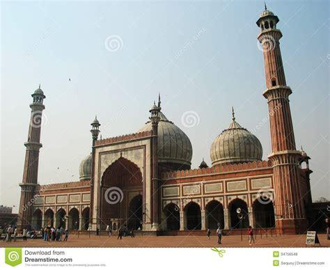 view  jama masjid  delhi royalty  stock