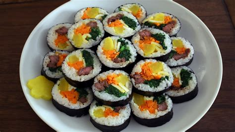 how to make kimbap how to make gimbap aka kimbap 김밥 youtube
