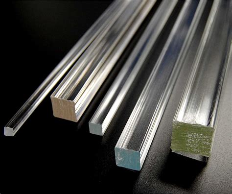 plastic tubing square extruded acrylic bar plastic shapes rods