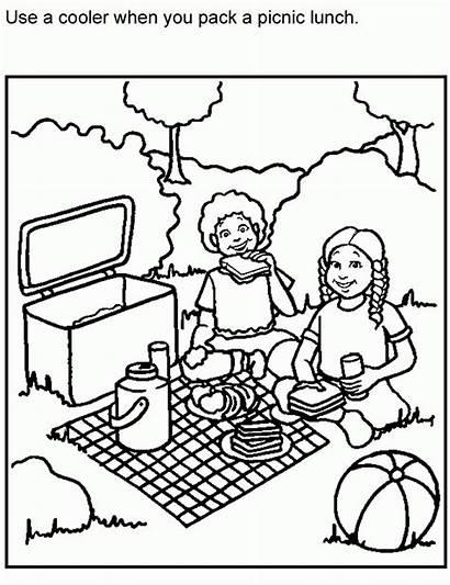 Picnic Coloring Safe Sheets Colouring Blanket Printable
