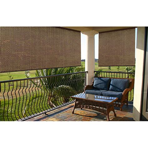 radiance roll up sun window shade baja cocoa patio