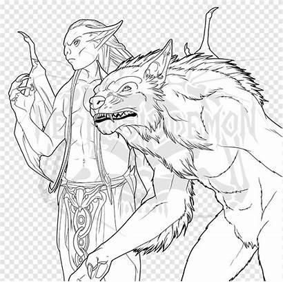 Skyrim Loup Val Mandala Coloriage Garou Werewolf