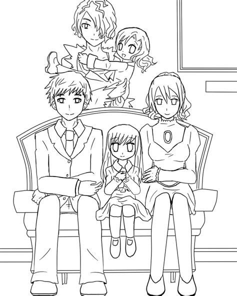 A big family portrait Line Art by GredellElle on DeviantArt