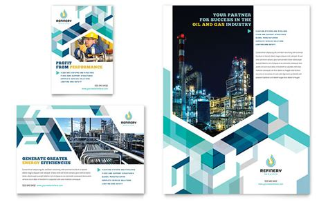 Oil And Gas Company Flyer And Ad Template Word And Publisher