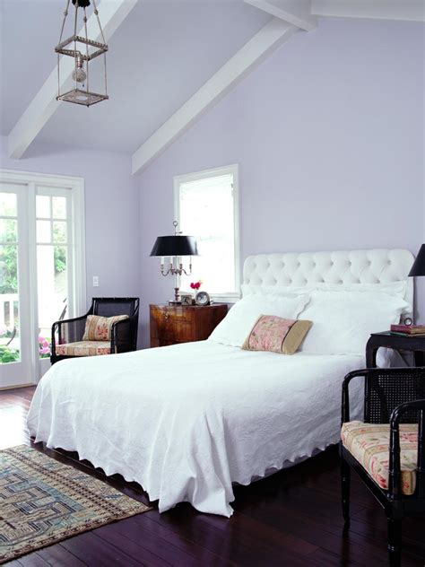 lilac and purple bedroom 10 bedrooms to inspire you to go lavender 15902   Lavender bedroom painted pitched ceiling