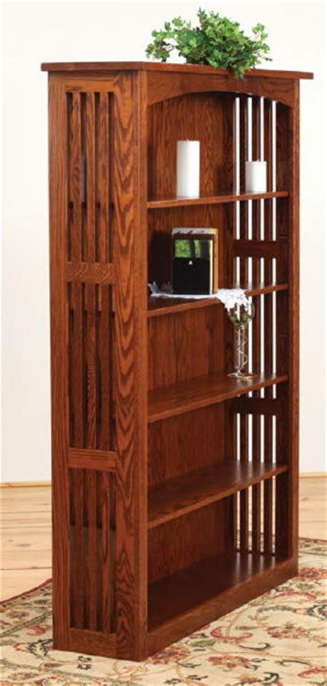 Bookcase Mission Style by Amish Valley Mission Style Bookcase